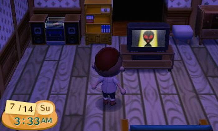 4.-In-Animal-Crossing-an-alien-shows-up-on-TV-at-3-33-on-Sundays-and-Mondays.
