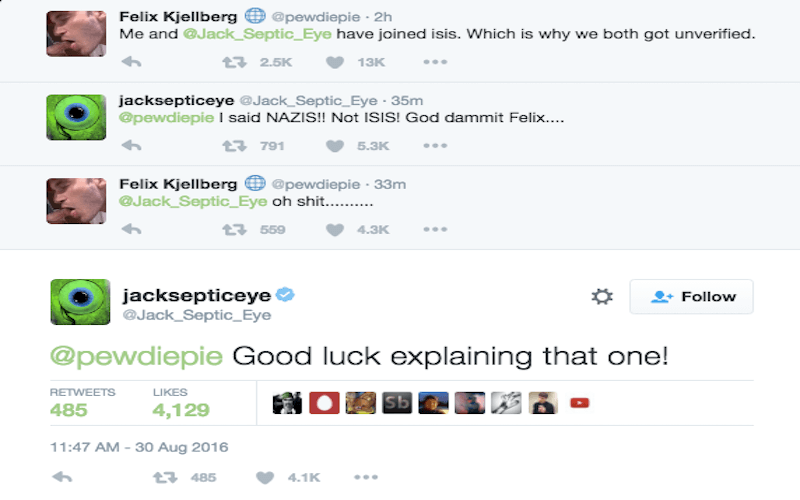 PewDiePie Tweets That He's Joining ISIS, People Freak Out