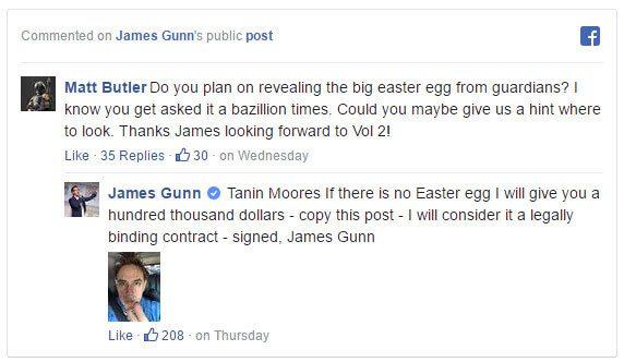 Быстро заработать в интернете? Легко, просто ищем пасхальное яйцо в фильме «Стражи Галактики»