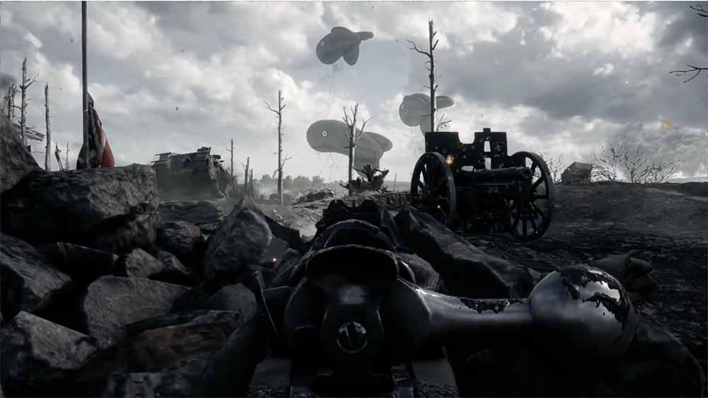 Battlefield 1 выглядит впечатляюще с модами на «No HUD» и приглушенными цветами