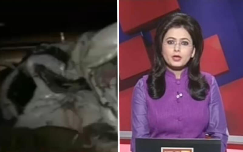 Moment tv news presenter finds out her husband has died live on air